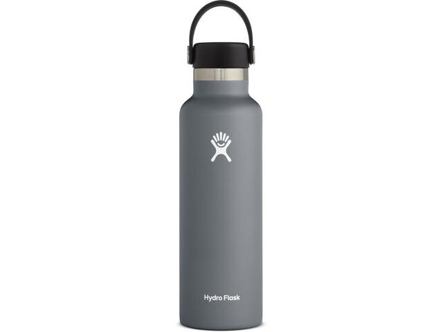 Hydro Flask Standard Mouth Bidón con Tapa Estándar Flex 621ml, gris